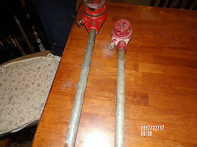 """ridgid pipe threaders 1/2"""" and 1 1/4"""" die's with handles"""