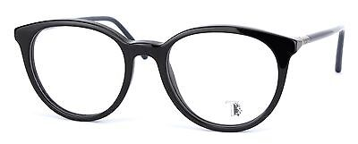 Tod's Womens Round Eyeglasses TO5111 001 Black / Dark Blue Arms Made in Italy