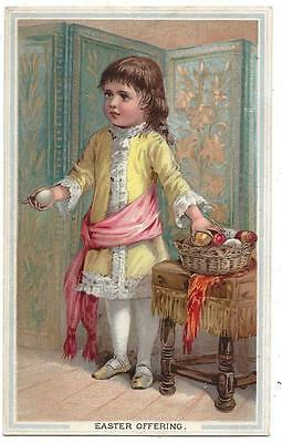 L. Prang Lith Co. of Boston, MA -  Victorian Easter Greeting Card - Easter Eggs