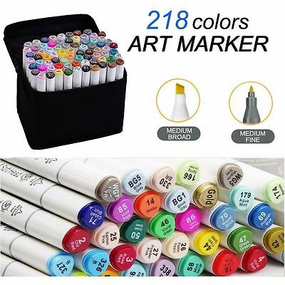 60/80 Color Graphic Art Sketch Twin Tips Marker Pen Broad Fine Point Animation