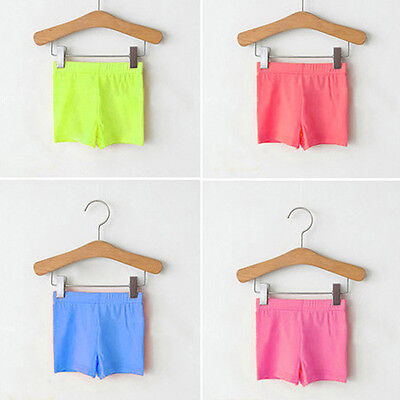Toddler Kids Baby Girl Short Pants Leggings Stretchy Safety Shorts Pants 2-7Y
