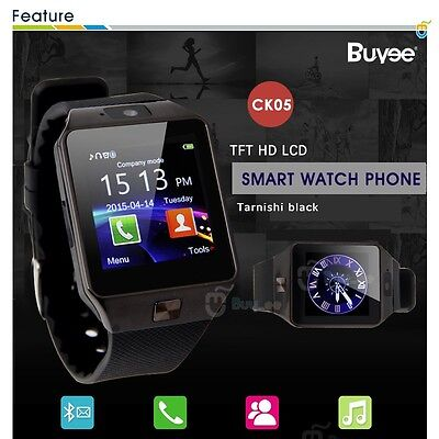 Buyee Reloj Inteligente Bluetooth Smart Watch SmartWatch para Android IOS TF SIM