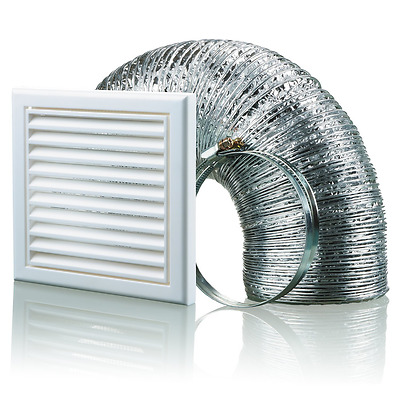 Blauberg UK BB-CHK-150-3-VSWH 150 mm Cooker Hood Duct Vent Kit Fan Extractor - W