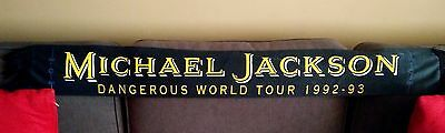 Rare vintage Michael Jackson DANGEROUS WORLD TOUR 1992 / 93 promotional Scarf