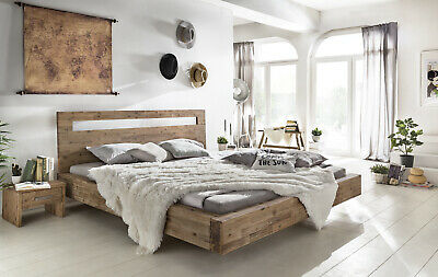massivholzbett doppelbett holzbett bett balkenbett akazie. Black Bedroom Furniture Sets. Home Design Ideas