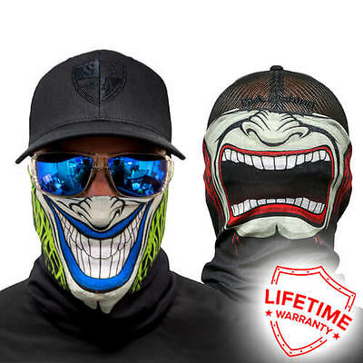 MOTORCYCLE FACE MASK - SPLIT PERSONALITY (TWO SIDED) - (Moto, Hunting, Fishing,