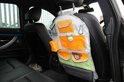 Car Rear Back Seat Kids Organiser Tidy Headrest Pocket Storage Travel Bag Kids