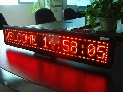 """21""""x4"""" Programmable LED Car Moving Display Sign Board Scrolling Message Red"""