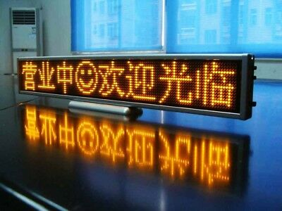 Programmable LED Car Moving Display Sign Board Scrolling Message 16*64 Yellow