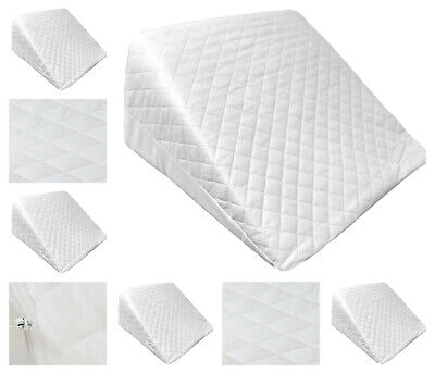 Reclining Quilted Orthopaedic Foam Bed Wedge Back Support Aid Reliever Pillow UK