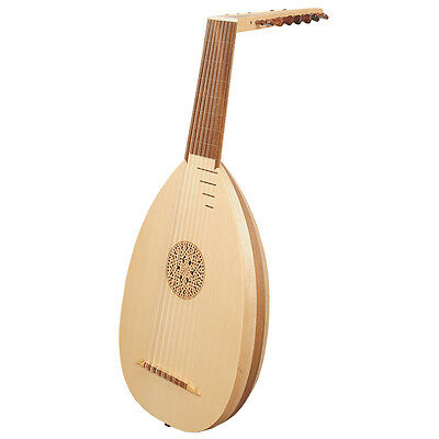 Heartland 8 Course Renaissance Lute, Right Handed Variegated Maple and Walnut