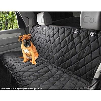 Seat Cover Dog Rear Bench Luxury Car Pet Hammock Waterproof Back Cat Quilted