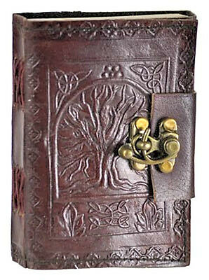 Leather Celtic Tree of Life Book of Shadows Blank Spell Book Wicca ~ by Raven Bl