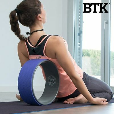 BTK Yoga Pilates Wheel, Gym Exercise Fitness Stretching Flexibility Equipment