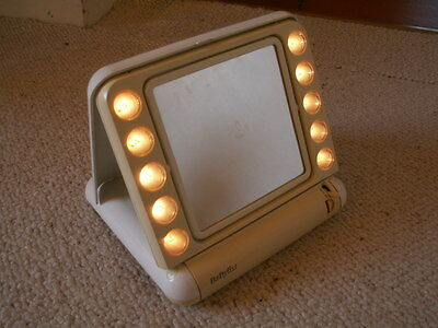 Ancien Miroir Babyliss Lumineux  Holywood Lights Vintage Plastique Annees 80