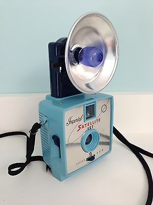 Imperial Satellite 127 Camera - Blue Flash! - Vintage Blue Camera!