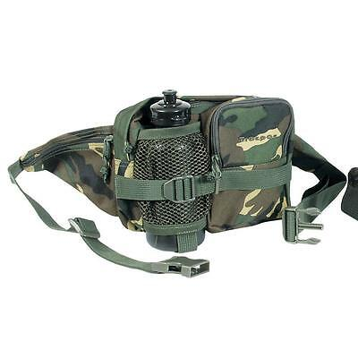 Mil-Com Waist Bag & Water Bottle Camo Camping Fishing Hiking Hunting Army Pouch
