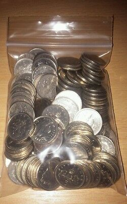 Five English Pounds (£5) in Five Pence (5p) Coins British Pound England Britain