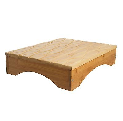 Panda Step 4'' (10cm) High Bamboo Wooden Foot Stool for Bathroom and Bedroom