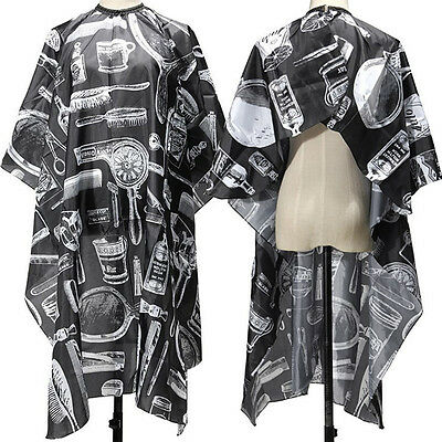 Pro Barber Hairdressing Gown Salon Styling Cutting Shampoo Hair Cape Cloth USA