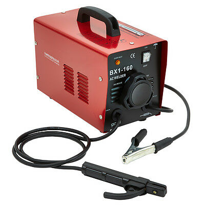 160Amp Portable Arc Welder Welding Machine with Accessory Kit Turbo Fan Cooled