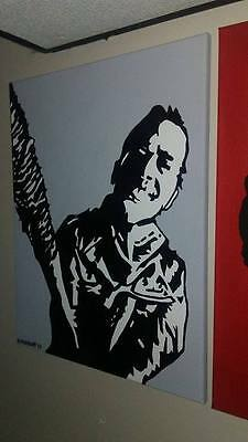 Negan - Acrylic on stretched canvas 16x20 hand painted Walking Dead painting art