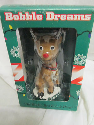 Bobble Dreams Hand Crafted Painted Christmas Rudolph World's Best Bobble Head