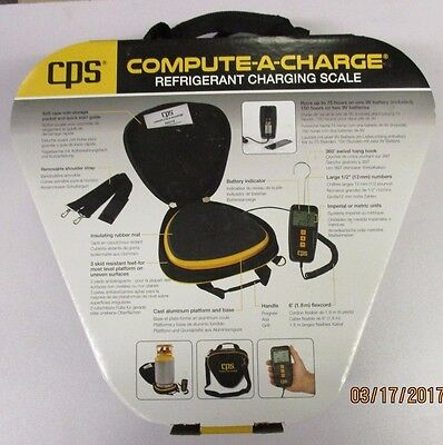 CPS 'COMPUTE-A-CHARGE' 110 lb REFRIGERANT CHARGING SCALE CCD110