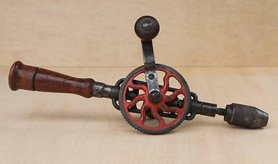 Antique Vintage MILLERS FALLS Eggbeater Hand Drill No.2 Bit In Handle