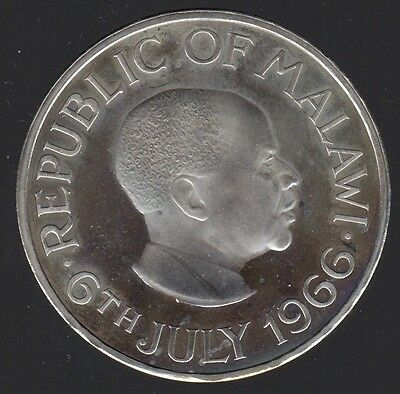 1966 Republic Of Malawi 1 Crown Proof Coin !!!