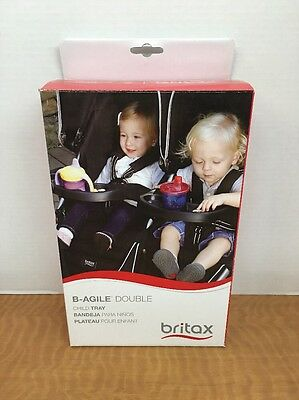Britax B-Agile Double Child Tray Cup Holder...Ships Free...New Open Box