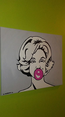 Marilyn Monroe - Acrylic on canvas 16x20 hand painted pop art  painting portrait