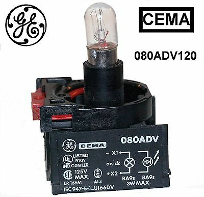 080ADV120 General Electric POWER SUPPLY 120 V AC/DC W/FLANGE CEMA New