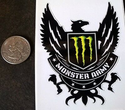 Monster Army stickers  Monster energy drink sticker sheet ( 2)