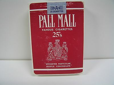 Deck of Cards Advertising Pall Mall Cigarettes. New. Sealed. Vintage