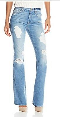 6025ee647fc0 7 For All Mankind High Waist Vintage Bootcut Flare Distressed Destroyed  Jeans 27