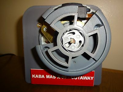 Kaba Mas X-09 Cutaway Lock - Mounted on Training Display