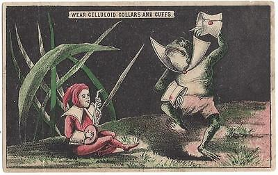 Anthropomorphic Frog & Banjo Elf - Sapolio Soap Trade Card - Enoch Morgan & Sons