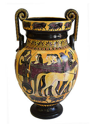 Ancient Greek Wedding Theme -Volute Krater Vase - Museum Replica
