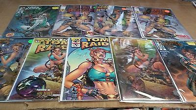 9 different Tomb Raider Variants Comics lot Collection $95 MSRP