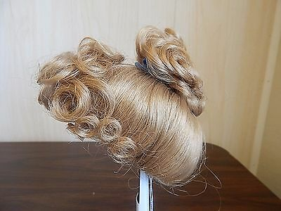 Kemper MARTHA Synthetic Doll Wig in Curly Up-Swept Style, Blonde Size 10-11""