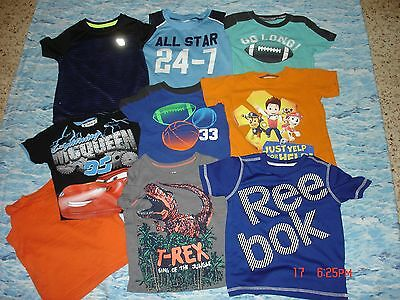 Lot Of Nine  Baby Boys Size 2T Assorted Shirts Pre-Owned