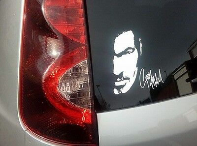 "George Michael Older signed signature White Vinyl decal sticker 6"" x 7"" car"