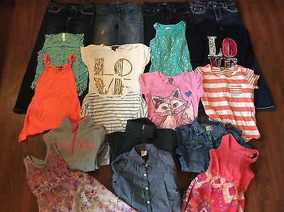 Lot of girls clothes size s-m 8 18 items