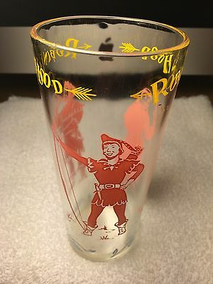 Original Antique Vintage Robin Hood Glass Pink Yellow and Blue