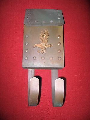 Vintage Antique Old Early Brass Mailbox Mail Box Eagle Postal Rare Nr
