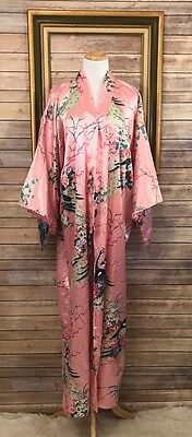 FP in Tokyo Medium Kimono Pink Peacock and Floral Satin Polyester
