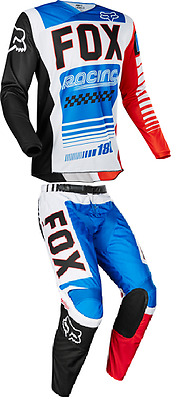 2017 Fox Racing 180 Fiend SE Blue/Red Pant & Jersey Mens Riding Gear Combo Mx