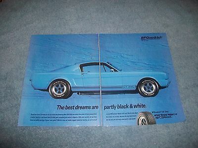 1993 BFGoodrich T/A Tires Vintage Ad with Shelby GT350 Mustang