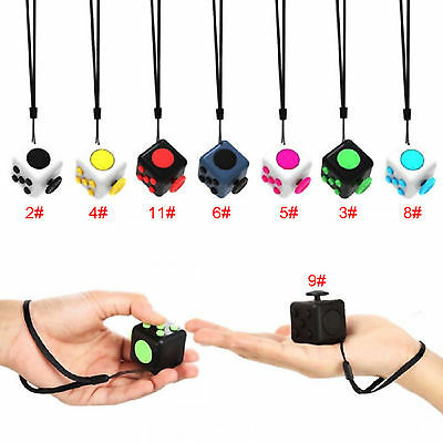 Magic Fidget Cube Hanging a Rope Anti-anxiety Adults Stress Relief Kids Desk Toy